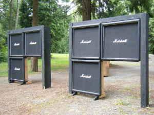 fake marshall stacks the blues show on bishopfm. Black Bedroom Furniture Sets. Home Design Ideas