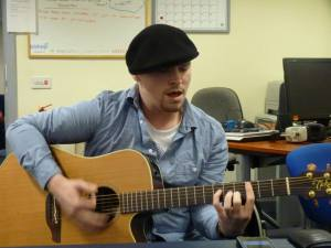 Mitch Laddie playing live in the Blues Show studio