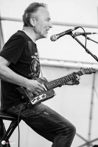 BAd Bob bates on The BishopFM Stage at Reivers Rock & Blues Festival. Photo by Adam Kennedy